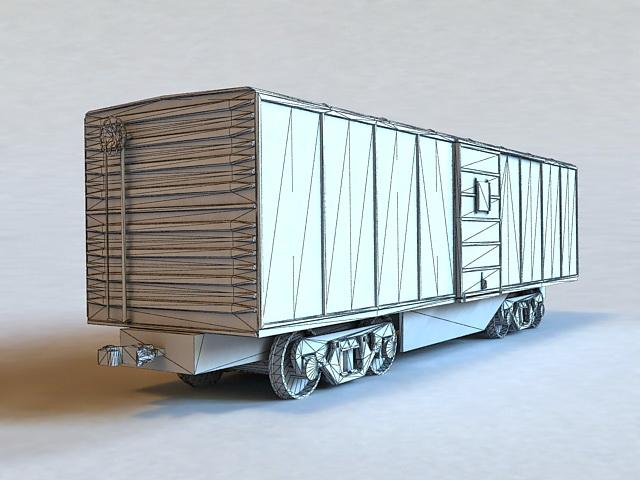 Freight Train Car 3d rendering