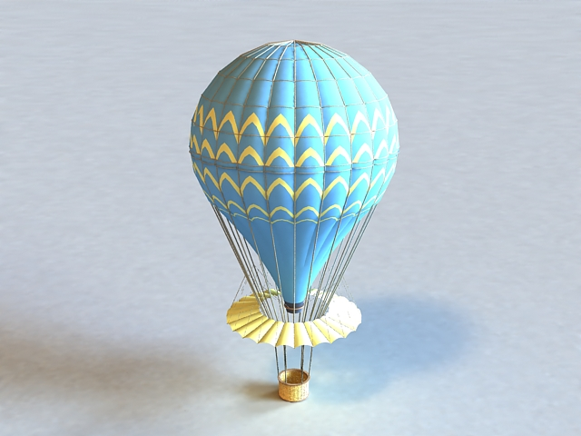 Hot Air Balloon 3d rendering