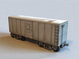 Small Railroad Boxcar 3d preview