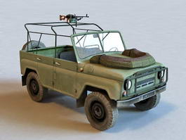 Russian Military UAZ 469 3d preview