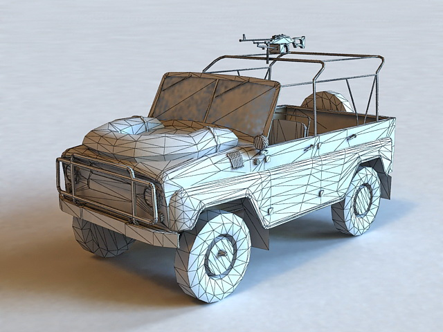 Russian Military UAZ 469 3d rendering