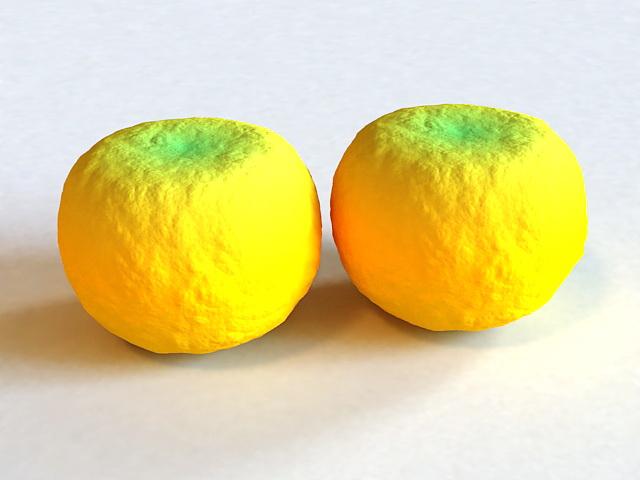 Mandarin Oranges 3d rendering