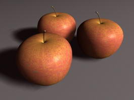 Apple Fruit 3d model preview