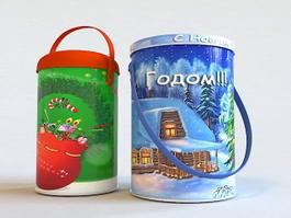 Christmas Gift Cookie Jar 3d model preview