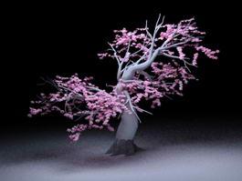 Flowering Peach Tree 3d model preview