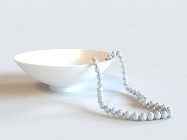 Pearl Necklace 3d rendering