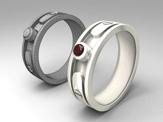 Metal Cuff Bracelet 3d rendering