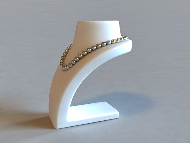 Pearl Necklace On Mannequin 3d rendering
