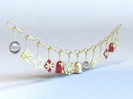 Christmas Bell Necklace 3d preview