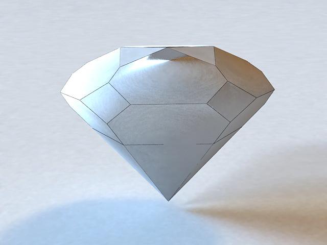Beautiful Sparkling Diamond 3d rendering