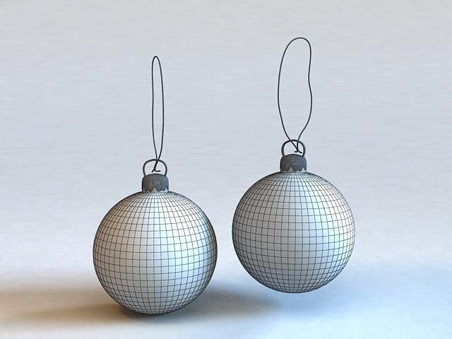 Ball Drop Earrings 3d rendering
