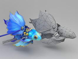 Blue Goldfish 3d preview
