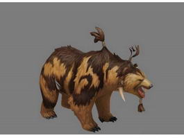 Dota 2 Lone Druid Bear 3d preview