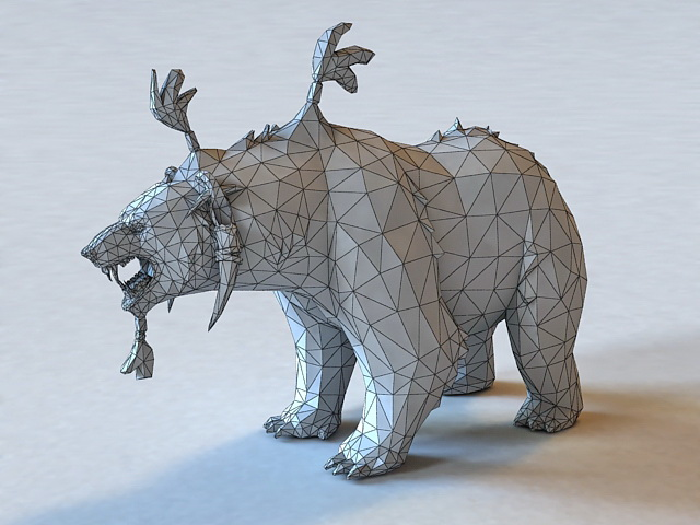 Dota 2 Lone Druid Bear 3d rendering