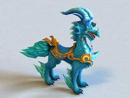 Mythical Creature Qilin 3d model preview