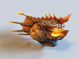 Anime Monster Fish 3d model preview