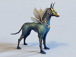Anime Winged Wolf 3d preview