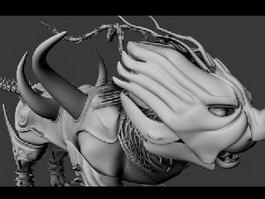 Monster Alien Creature 3d model preview