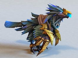 Warcraft Raven Lord 3d model preview