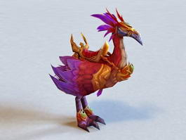 Warcraft Red Hawkstrider 3d model preview