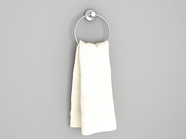 Bathroom Towel Ring 3d rendering