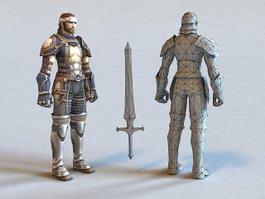 Ancient Korean Warrior 3d preview