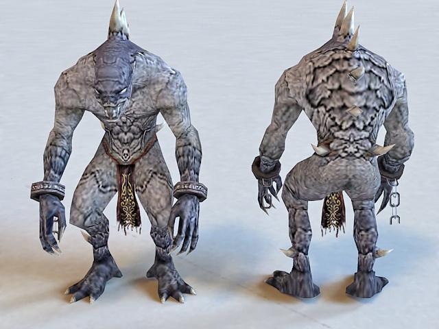 Zombie Monster Creature 3d rendering