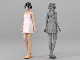 Dress Slip Girl 3d model preview