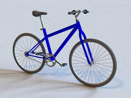 Blue Road Bicycle 3d model preview