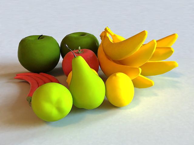 Fruits & Vegetables 3d rendering