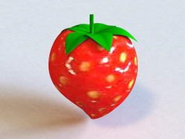 Fresh Fruits Strawberry 3d preview