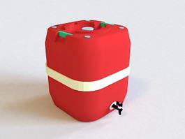 Barrel Beverage Dispenser 3d preview