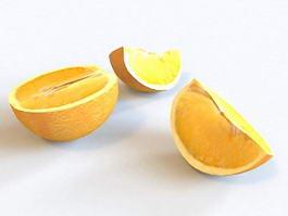 Orange Fruit 3d preview