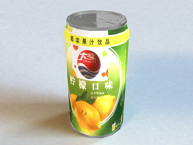 Canned Juice 3d rendering