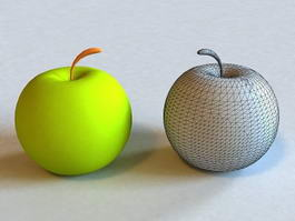 Green Apple 3d preview