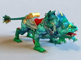 Mythical Chinese Creature Beast 3d model preview