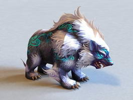 Mythical Bear Creature 3d model preview