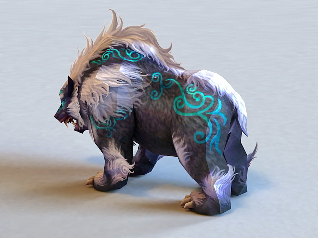 Mythical Bear Creature 3d rendering
