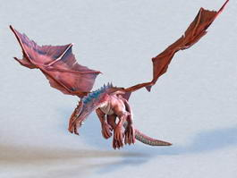Red Dragon Animated & Rigged 3d model preview
