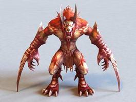 Demon Werewolf 3d preview