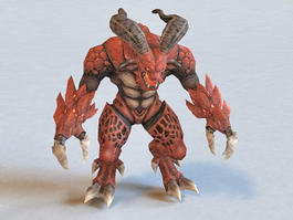 Lava Demon Monster 3d preview
