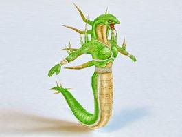 Female Serpent Monster 3d model preview