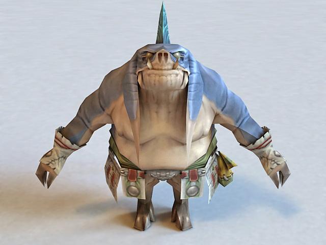 Final Fantasy X Wakka 3d model 3ds Max,Object files free