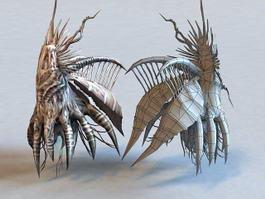 Insect Alien Creature 3d model preview