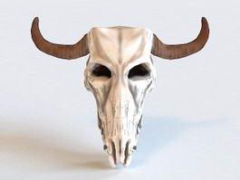 Bull Skull 3d preview