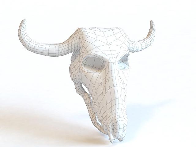 Bull Skull 3d rendering