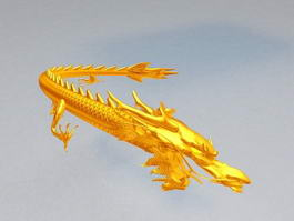 Chinese Dragon Animation 3d model preview