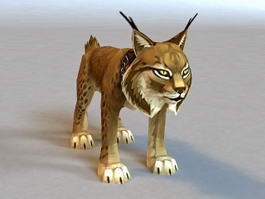 Leopard Cat Rigged 3d model preview