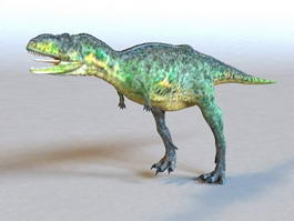 Animated Green Dinosaur 3d model preview
