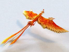 Mythical Phoenix Rigged 3d model preview